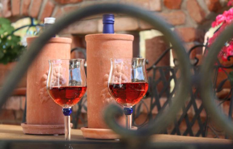 Wein im Weinkühler